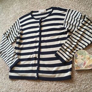 MILANO Button Down Cardigan Sweater Size M
